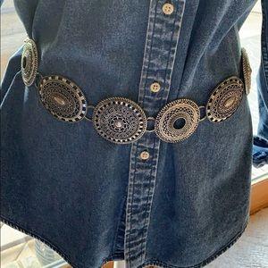 Chico's vintage medallion chain belt